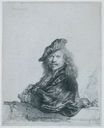 Rembrandt van Rijn - Self-portrait leaning on a stone sill 1639