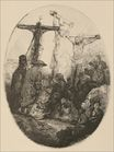 Rembrandt van Rijn - The Crucifixion an Oval Plate 1640