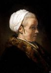 Rembrandt van Rijn - Lighting Study of an Elderly Woman in a White Cap 1640