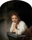 Rembrandt van Rijn - Girl in the Window 1645