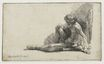 Rembrandt van Rijn - Nude man seated on the ground with one leg extended 1646