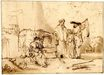 Rembrandt van Rijn - The man of Gibeah 1646