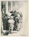 Rembrandt van Rijn - Beggars on the Doorstep of a House 1648