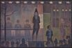 Georges Seurat most famous paintings. Circus Sideshow 1888