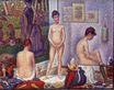 Georges Seurat most famous paintings. The Models 1888