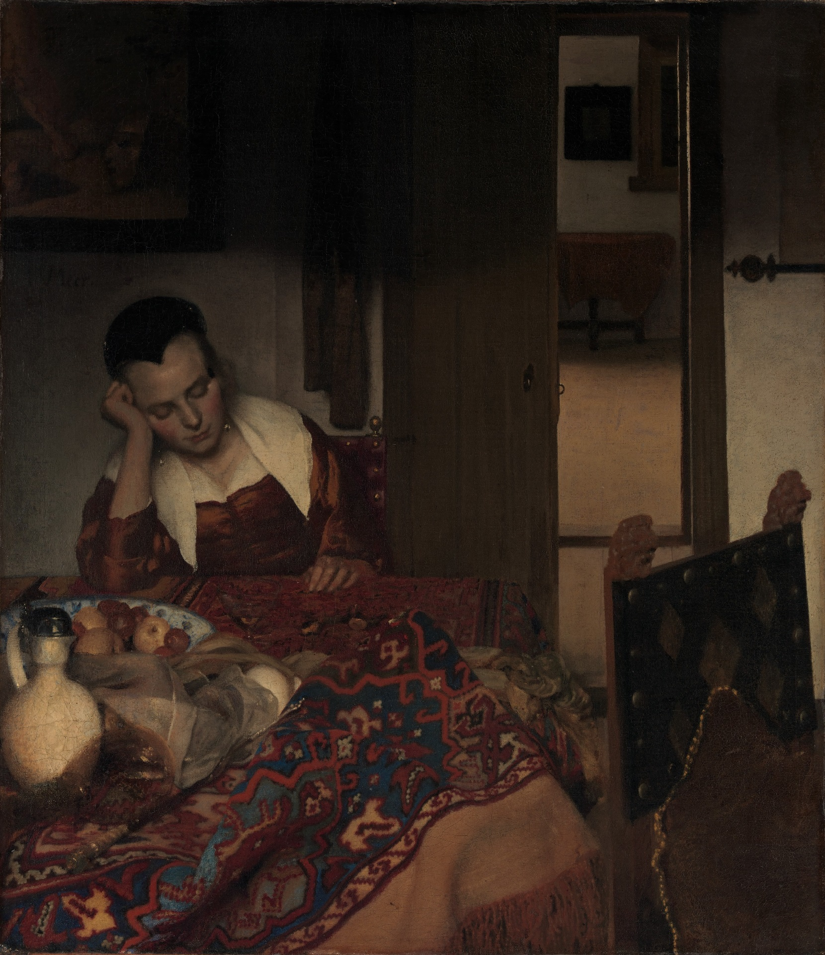 Johannes Vermeer - A maid asleep 1656-1657
