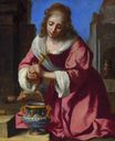 Johannes Vermeer - Saint Praxidis, after Felice Ficherelli 1655
