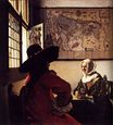 Johannes Vermeer - Officer and Laughing Girl 1657