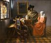 Johannes Vermeer - The glass of wine 1658-1660