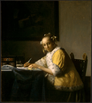 Johannes Vermeer - A lady writing 1665-1666