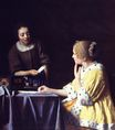 Johannes Vermeer - Mistress and Maid. Lady with Her Maidservant Holding a Letter 1666-1667