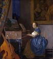 Johannes Vermeer - A young woman seated at a virginal. A Lady Seated at a Virginal 1670-1672