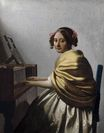 Johannes Vermeer - A young woman seated at the virginals. A young woman seated at the virginal 1670-1672