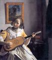 Johannes Vermeer - The Guitar Player. Young woman playing a guitar 1670-1672