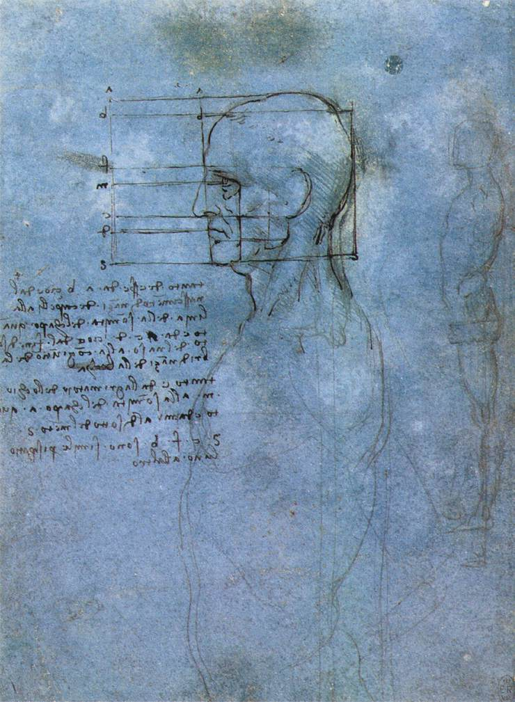 Leonardo da Vinci - Study of proportion 1490