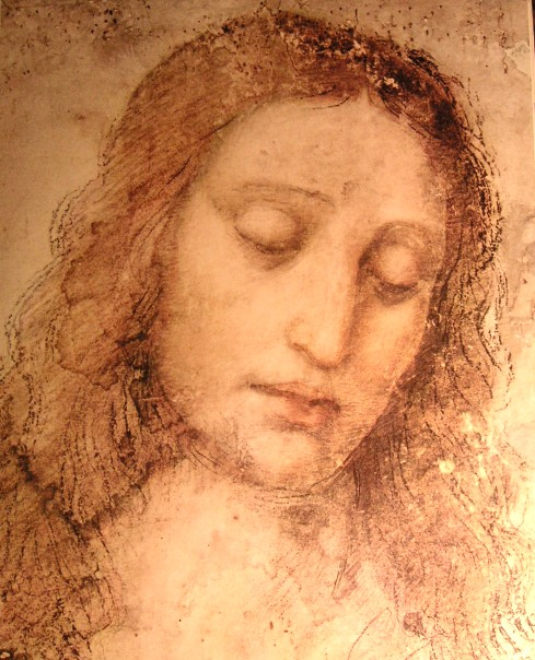 Leonardo da Vinci - Study of Christ for the Last Supper 1500