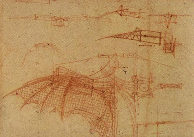 Leonardo da Vinci - Design for a Flying Machine 1505