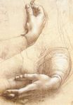 Leonardo da Vinci - Study of hands 1474