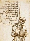 Leonardo da Vinci - Study of the Hanged Bernardo di Bandino Baroncelli, assassin of Giuliano de Medici 1479