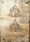 Leonardo da Vinci - Studies of central plan buildings 1480