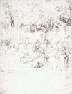 Leonardo da Vinci - Study for the Adoration of the Magi 1480