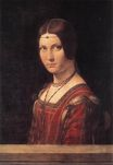 Leonardo da Vinci - Portrait of an Unknown Woman. La Belle Ferroniere 1490