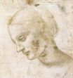 Leonardo da Vinci - Study of a woman's head 1490