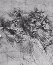 Leonardo da Vinci - Study of five grotesque heads 1494