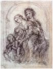 Leonardo da Vinci - Study for St. Anne 1501