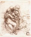 Leonardo da Vinci - Study of St. Anne, Mary, the Christ Child and the young St. John 1503
