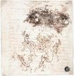 Leonardo da Vinci - Study of battles on horseback and on foot 1504