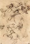 Leonardo da Vinci - Study of battles on horseback 1504