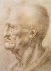 Leonardo da Vinci - Profile of an old man 1505