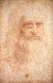 Leonardo da Vinci - Portrait of a Bearded Man, possibly a Self Portrait 1513