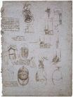 Leonardo da Vinci - Studies of the Villa Melzi and anatomical study 1513