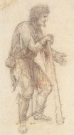 Leonardo da Vinci - Masquerader in the guise of a Prisoner 1517
