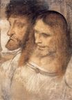 Leonardo da Vinci - Heads of Sts Thomas and James the Greater