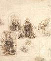 Leonardo da Vinci - Studies for a Nativity 1480-1485