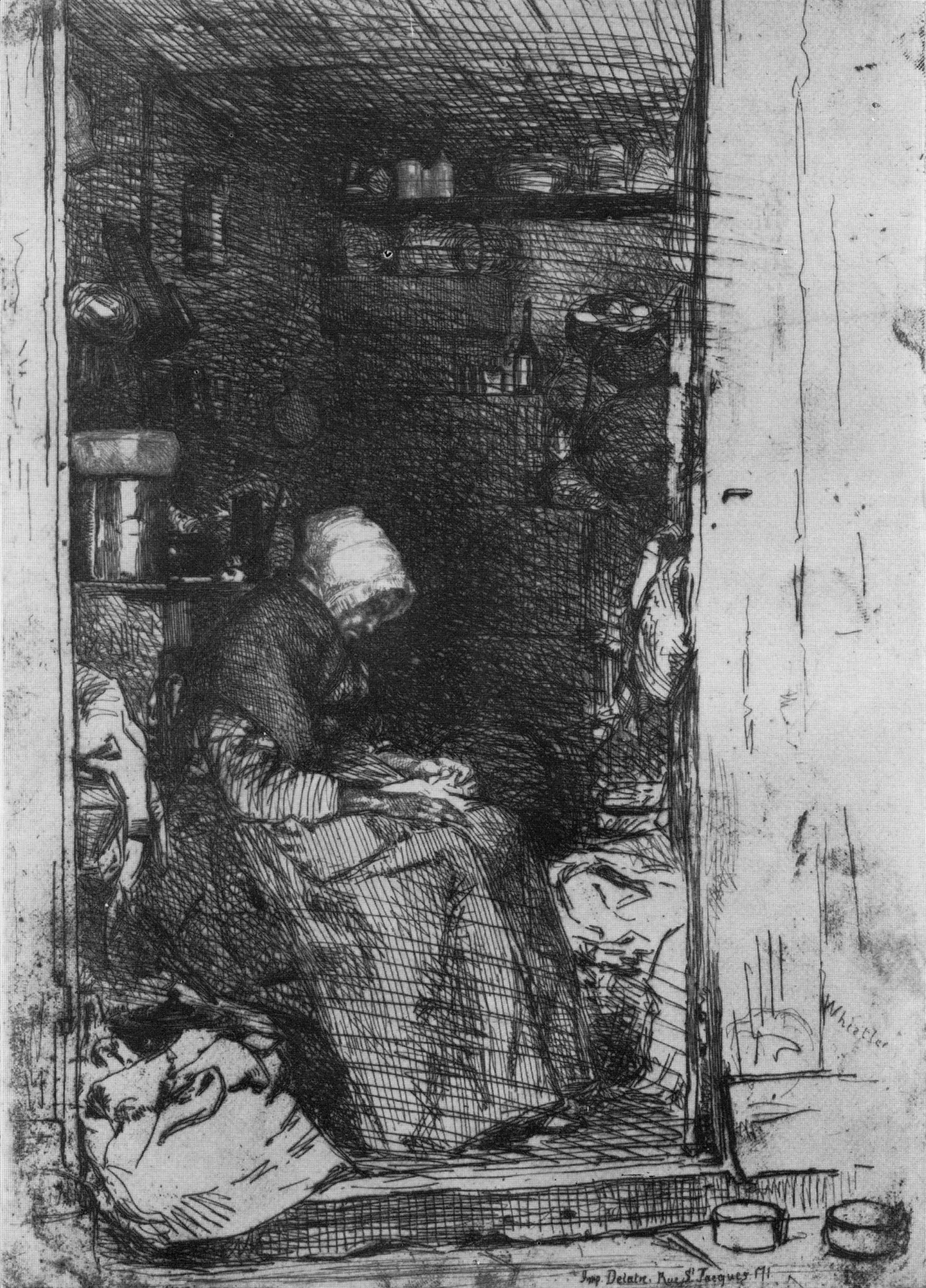 Old Woman with Rags 1858