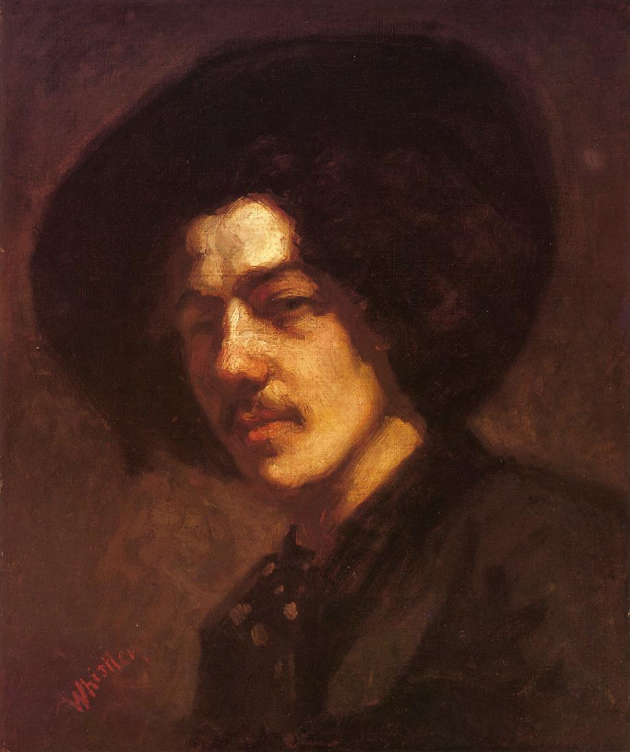Portrait of Whistler with a Hat 1858