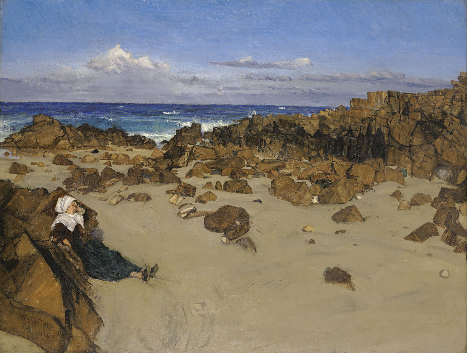 The Coast of Brittany. Alone with the Tide 1861