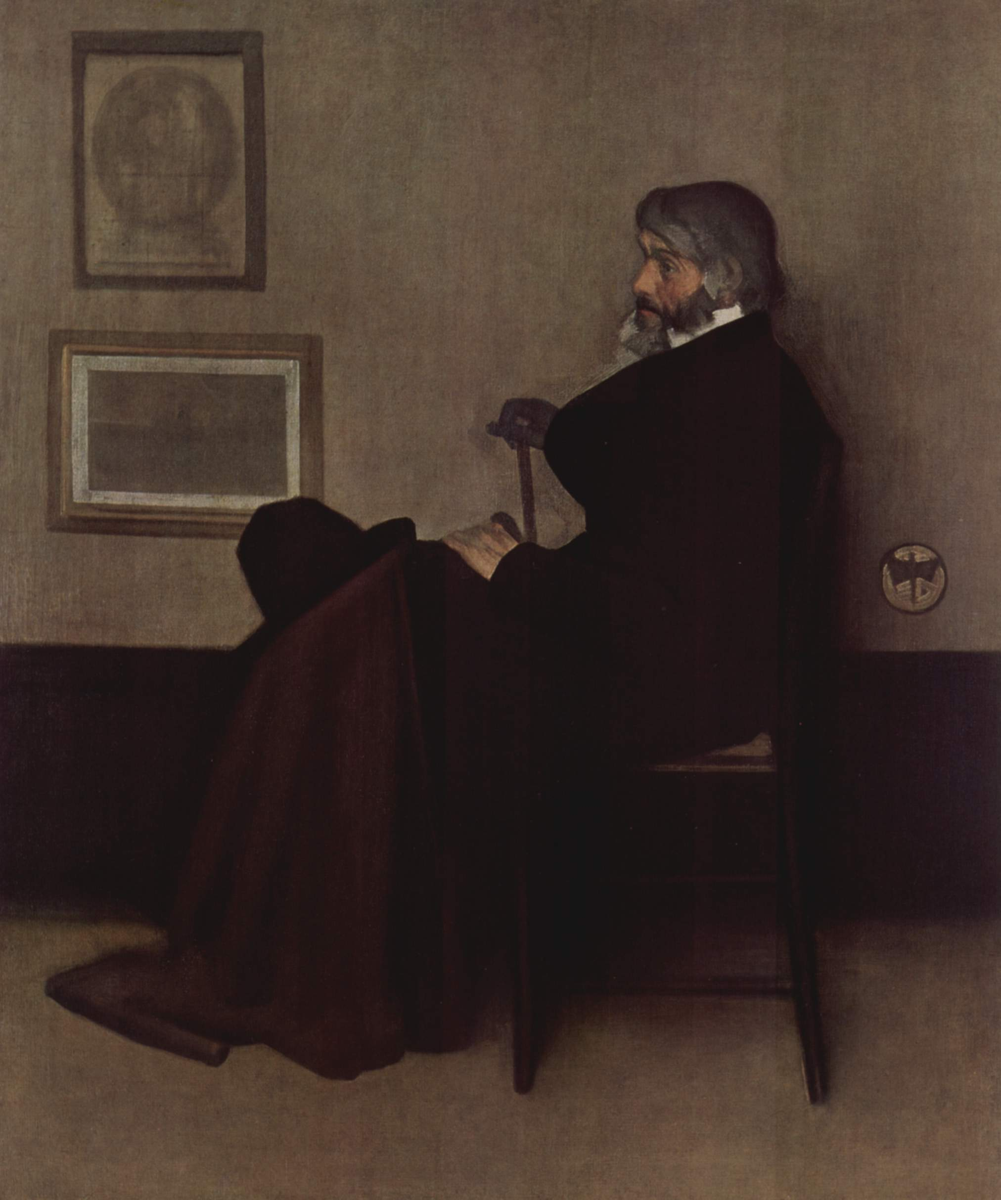 Arrangement in Grey and Black, No.2. Portrait of Thomas Carlyle 1873