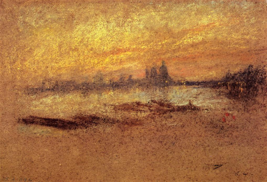 Red and Gold. Salute, Sunset 1880