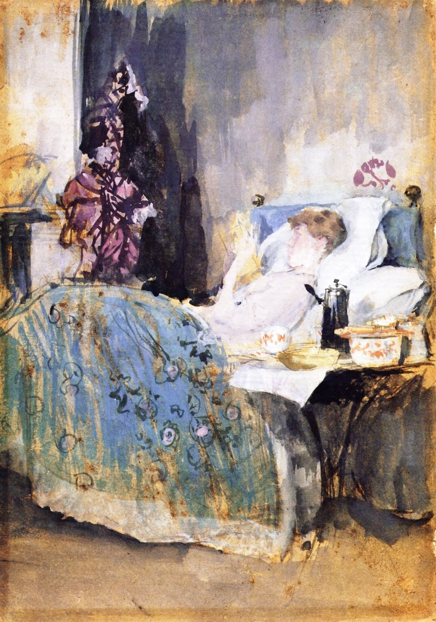 Maud Reading in Bed 1884