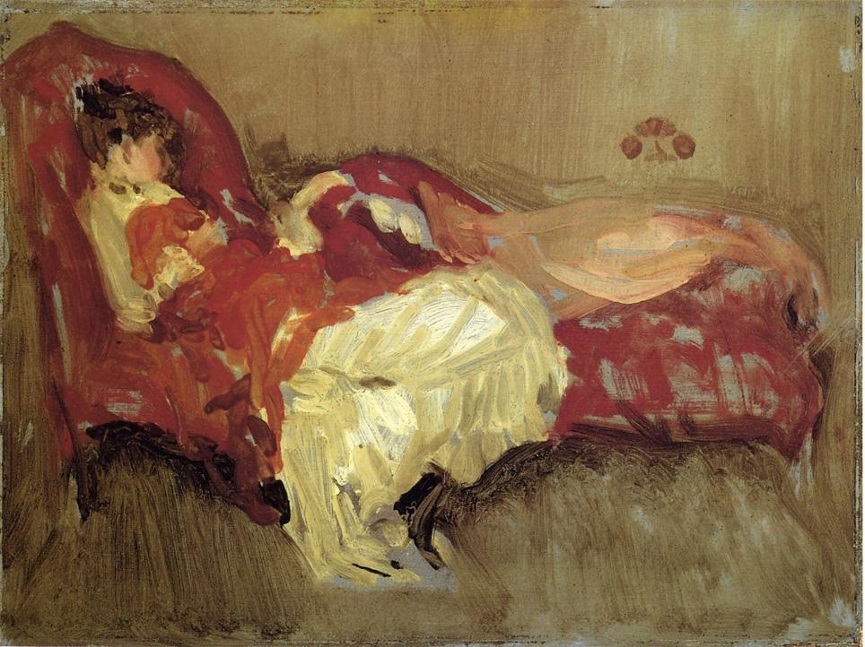 Note in Red. The Siesta 1884