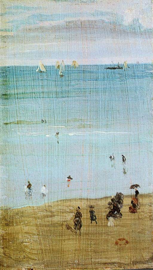 Harmony in Blue and Pearl. The Sands, Dieppe 1885