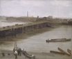 Brown and Silver. Old Battersea Bridge 1859