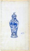 Blue and White Covered 1890