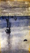 Sailboats in Blue Water 1900