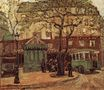 Greenish Bus in Street of Paris 1926